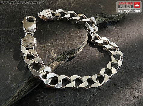 دستبند نقره دستبند کارتیه تراش ژاپنی ایتالیایی مردانه