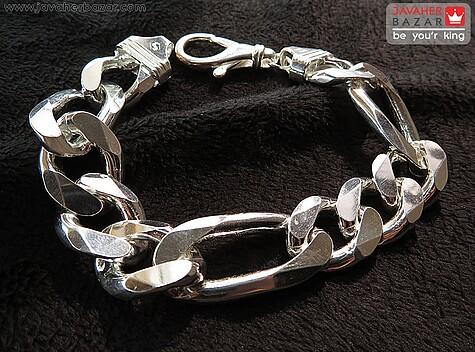 دستبند نقره درشت و فاخر مردانه