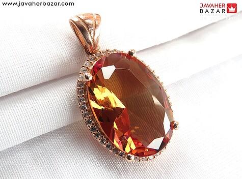 مدال نقره الکساندریت زولتنایت الماس تراش