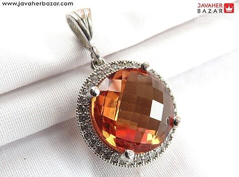 مدال نقره الکساندریت زولتنایت الماس تراش زیبا
