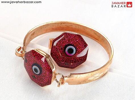 دستبند مس فری سایز طرح چشم زخم زنانه ظریف