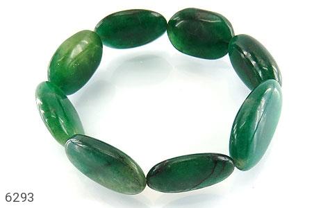 دستبند جید سبز درشت زنانه - 6293