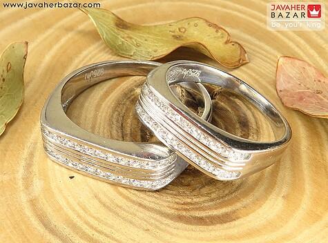 حلقه ازدواج نقره لاکچری