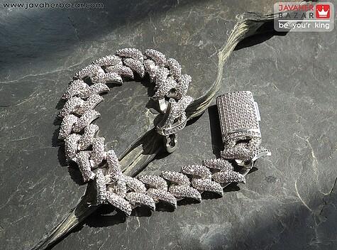 دستبند نقره اشرافی زنانه