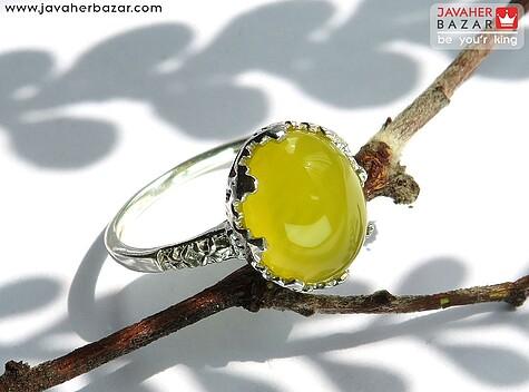انگشتر نقره عقیق طرح فرناز شرف الشمس زنانه