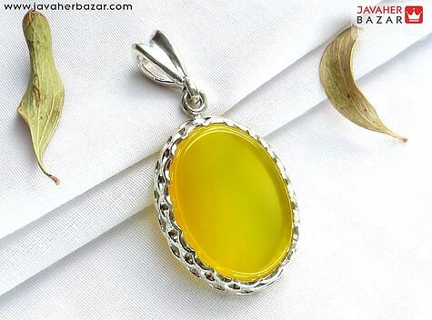 مدال نقره عقیق خوش رنگ شرف الشمس