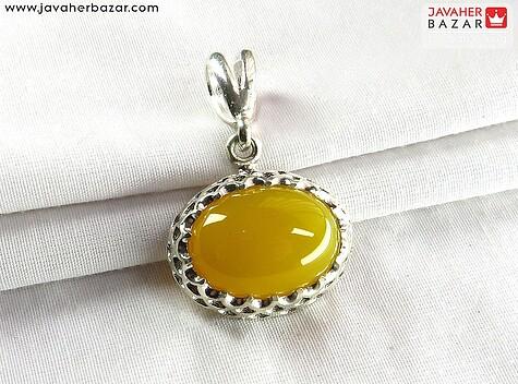 مدال نقره عقیق جذاب شرف الشمس