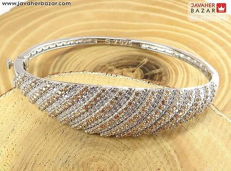دستبند نقره النگویی زیبا زنانه