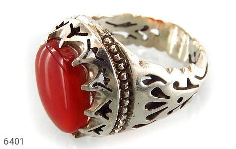انگشتر نقره عقیق یمن درشت مردانه دست ساز - 6401