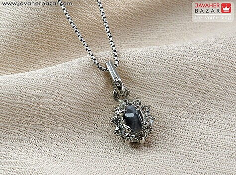 مدال نقره چشم گربه جذاب و شیک - 64033