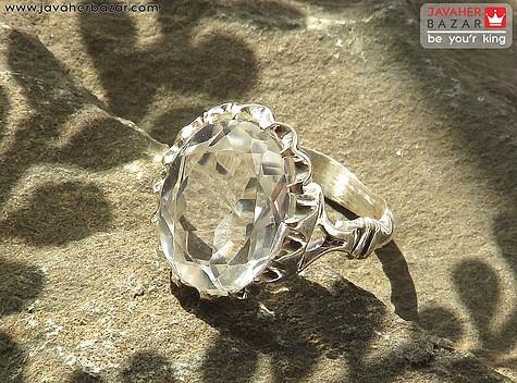 انگشتر نقره در نجف الماس تراش دست ساز
