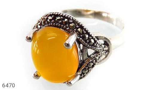 انگشتر نقره عقیق زرد شرف الشمس زنانه - 6470