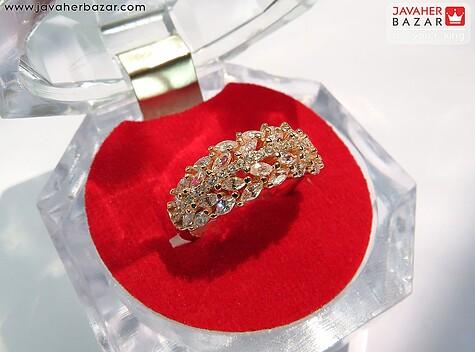 انگشتر نقره رزگلد طرح ملکه زنانه - 65147