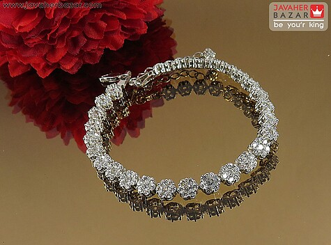 دستبند نقره فلاور زنانه