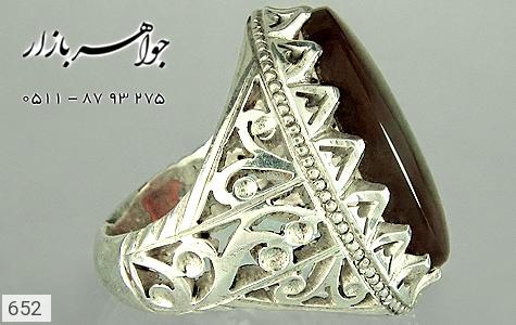 انگشتر نقره عقیق درشت و کمیاب مردانه دست ساز - 652