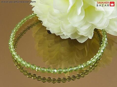 دستبند نقره زبرجد زیبا و ظریف زنانه