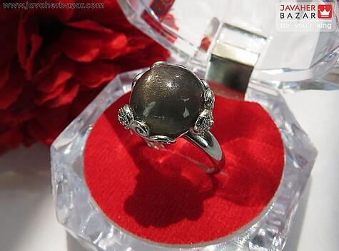 انگشتر نقره سنگ خورشید فری سایز زنانه