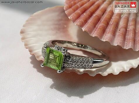 انگشتر نقره زبرجد جذاب زنانه