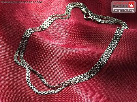 زنجیر نقره 45 سانتی طرح بیزمارک زنانه