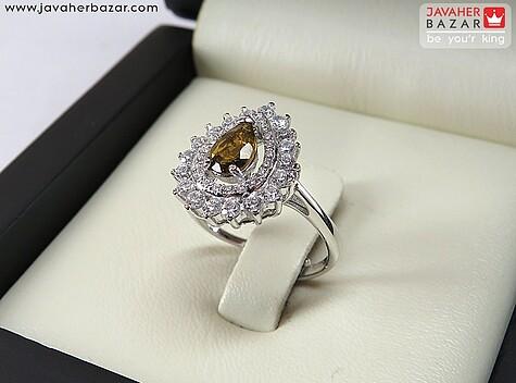 انگشتر نقره تورمالین فری سایز فاخر زنانه - 67581