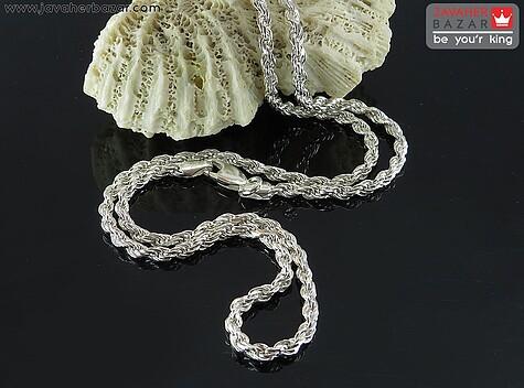زنجیر نقره 50 سانتی مدل طنابی ضخیم