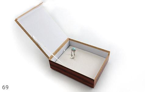 عکس جعبه جواهر چوبی طرح الماس نشان - شماره 3