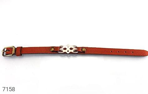 عکس دستبند نقره چرم و اصل طرح اسپرت