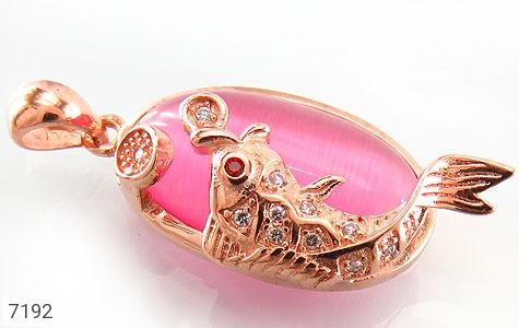 عکس مدال نقره چشم گربه طرح ماهی زنانه