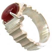 انگشتر نقره عقیق یمن قرمز مردانه