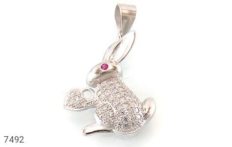 عکس مدال نقره فانتزی طرح خرگوش و قلب زنانه