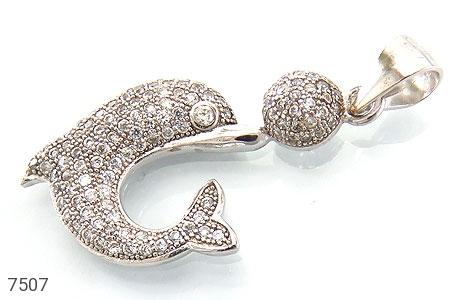 عکس مدال نقره فانتزی طرح دلفین زنانه
