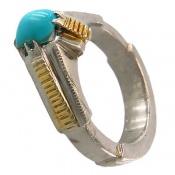 انگشتر نقره فیروزه نیشابوری مرغوب هنر شرفیان مردانه