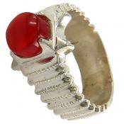 انگشتر نقره عقیق یمنی خوش رنگ طرح کلاسیک مردانه