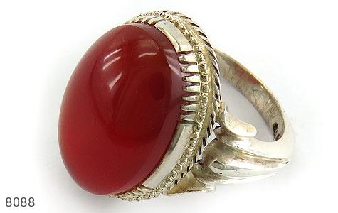 عکس انگشتر عقیق سرخ خوش رنگ مرغوب درشت مردانه