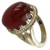 انگشتر نقره عقیق مرغوب و خوش رنگ مردانه