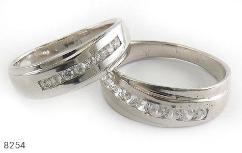 حلقه ازدواج نقره طرح کلاسیک رینگی - 8254