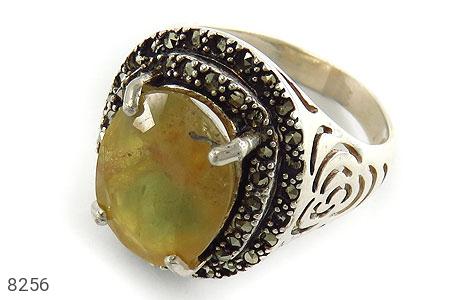 انگشتر نقره یاقوت زرد مرغوب و درشت زنانه - 8256