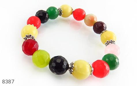 دستبند جید رنگین کمانی درخشان زنانه - 8387
