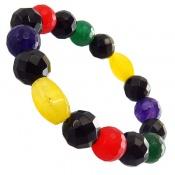 دستبند جید درخشان رنگین کمان زنانه