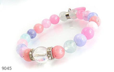 عکس دستبند جید رنگین کمانی زنانه