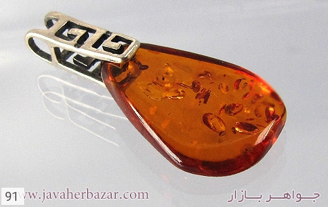 مدال نقره کهربا طرح ورساچه - 91