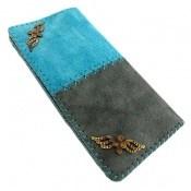 کیف چرم طبیعی اشبالت دو رنگ دست دوز زنانه دست ساز