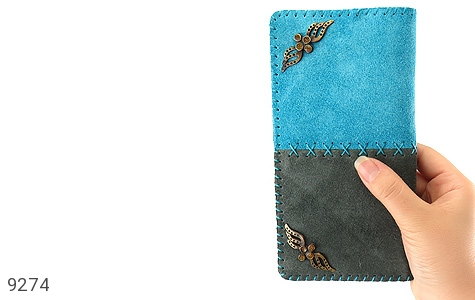 تصویر کیف چرم طبیعی اشبالت دو رنگ دست دوز زنانه - شماره 10
