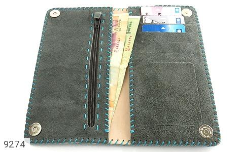تصویر کیف چرم طبیعی اشبالت دو رنگ دست دوز زنانه - شماره 11