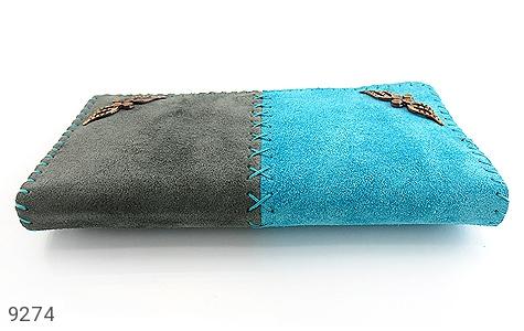 عکس کیف چرم طبیعی اشبالت دو رنگ دست دوز زنانه - شماره 4
