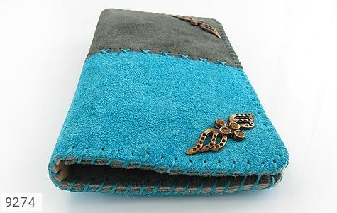 عکس کیف چرم طبیعی اشبالت دو رنگ دست دوز زنانه - شماره 5