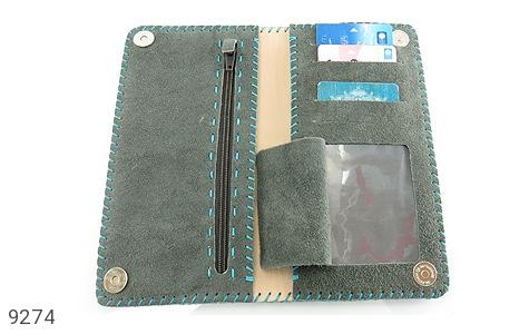 عکس کیف چرم طبیعی اشبالت دو رنگ دست دوز زنانه - شماره 6