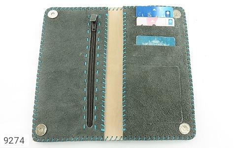 عکس کیف چرم طبیعی اشبالت دو رنگ دست دوز زنانه - شماره 7