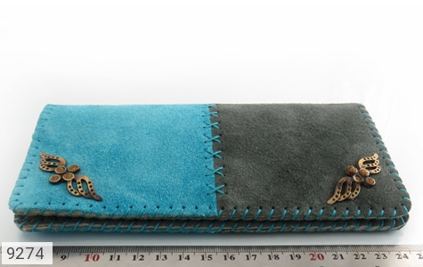 تصویر کیف چرم طبیعی اشبالت دو رنگ دست دوز زنانه - شماره 8