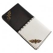 کیف چرم طبیعی طبیعی دو رنگ دست دوز زنانه دست ساز